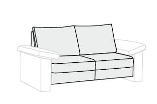 Bali Flexa 2-Sitzer ohne Funktion
