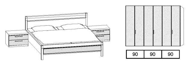 Disselkamp Comfort-V Doppelbetten Vorschlagskombinationen