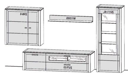 Gwinner Solid Wandkombinationen SL203-SV