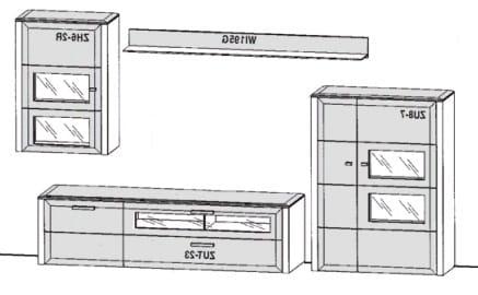 Gwinner Solid Wandkombinationen SL25-SV
