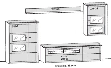 Gwinner Solid Wandkombinationen SL25