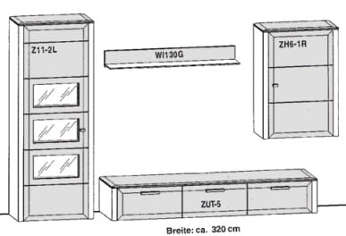 Gwinner Solid Wandkombinationen SL35-SV
