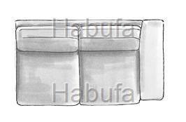 Habufa Sofas Sydney 2-Sitzer - Armlehne rechts - fest