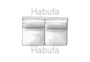 Habufa Sofas Sydney 2-Sitzer - ohne Armlehnen - fest