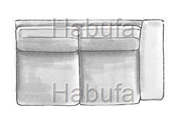 Habufa Sofas Sydney 2-Sitzer Armlehne rechts - verstellbar