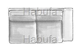 Habufa Sofas Sydney 2.5- Sitzer - Armlehne rechts - fest