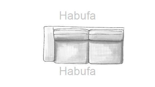 Habufa Sofas Sydney 3-Sitzer - Armlehne links - fest
