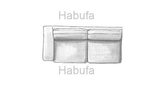 Habufa Sofas Sydney 3-Sitzer - Armlehne links - verstellbar