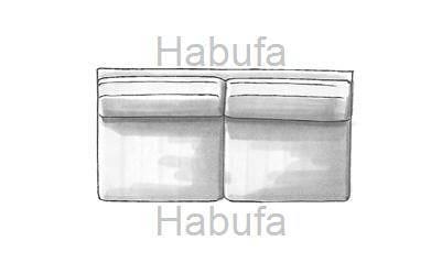 Habufa Sofas Sydney 3-Sitzer - ohne Armlehnen - verstellbar