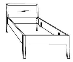Hasena Function Comfort Bettgestell inkl. Füße