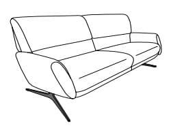 Himolla Tangram Sofa 9805 3-Sitzer
