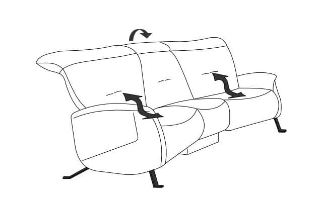 Himolla Cumuly Comfort 4707 Trapezsofas