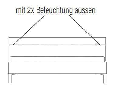 loddenkemper solo nova liegenbett 3615 m bel zum g nstigsten preis. Black Bedroom Furniture Sets. Home Design Ideas