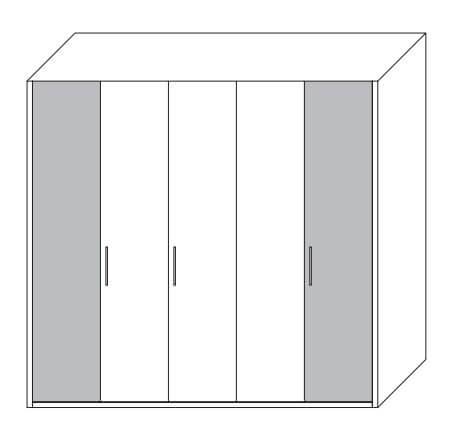 Loddenkemper Schlafzimmer Cadeo Dreh-/Falttürenschränke