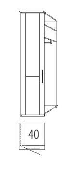 Loddenkemper Schlafzimmer Cortina Plus Drehtüren Anbausystem