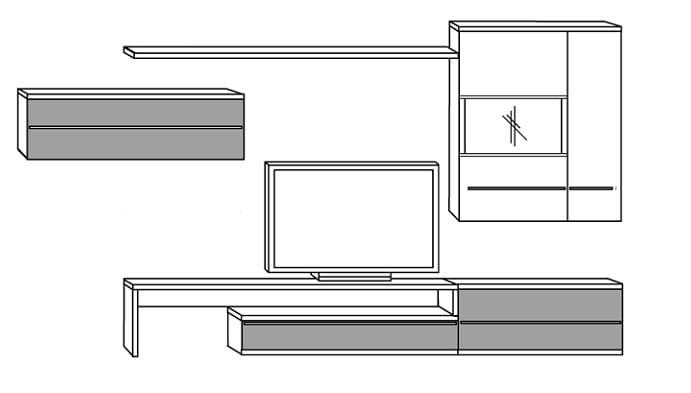 Loddenkemper Wohnzimmer Kito Zusammenstellungen