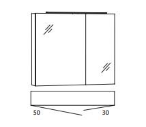 Marlin Bad 3050 (ehemals Idea) Spiegelschränke