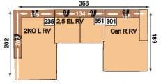 Megapol Lomo - Linos 2KOLRV-2,5ELRV-CanRRV