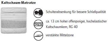 Nehl Schrankbetten Riva Top Luxus-Bett 2446 Aufpreis Kaltschaummatratze