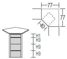 Nolte Germersheim Beimöbel und Traversensystem Alegro Style Kommoden Höhe 93cm