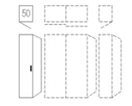 Nolte Germersheim Schranksysteme Columbus Drehtüren-Anstellschränke (davorstehend von links nach rechts zusammenstellen: Startelement-Anbauelemente-Abschlussseite)