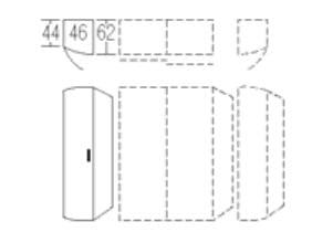 Nolte Germersheim Schranksysteme Columbus Rundtüren-Anstellschränke (davorstehend von links nach rechts zusammenstellen: Startelement-Anbauelemente-Abschlussseite)