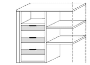 Nolte Germersheim Zubehör Zubehör Drehtürenschränke für 90 Grad-Eckelement mit 2 Türen und 60 cm Tiefe