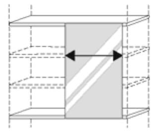 Nolte Germersheim Zubehör Zubehör Drehtürenschränke für Schrankelemente mit 120 cm Breite und 60 cm Tiefe