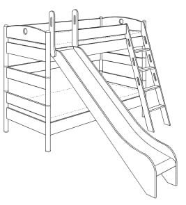 moebelguenstiger paidi fleximo etagenbett 155. Black Bedroom Furniture Sets. Home Design Ideas