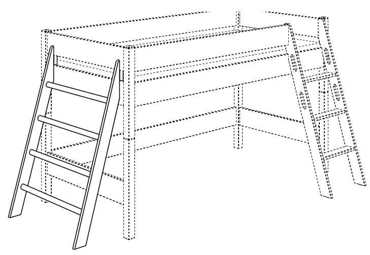 paidi biancomo sprossenwand h he 125 2677700 m bel zum g nstigsten preis. Black Bedroom Furniture Sets. Home Design Ideas