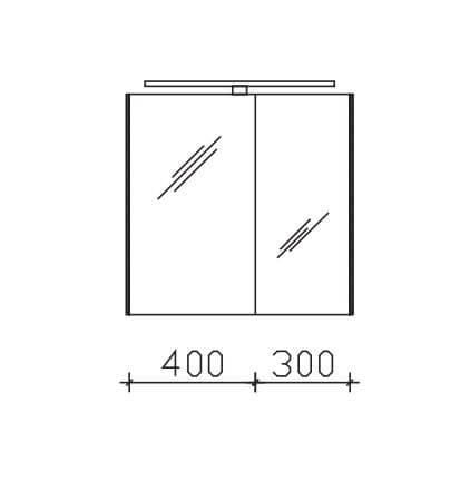 Pelipal Solitaire Solitaire 9005 Spiegelschränke mit Farbtemperaturwechsel