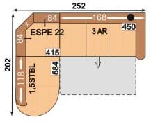 Polipol Sofas 64390086 1,5STBL-ESPE22-3AR