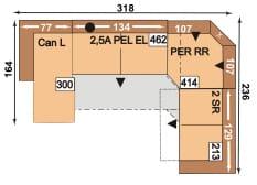 Polipol Sofas 64391079 CANL-2,5APELEL-PERRR-2SR