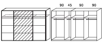 Rauch Packs Schlafzimmer Apulien Schwebetürenschränke