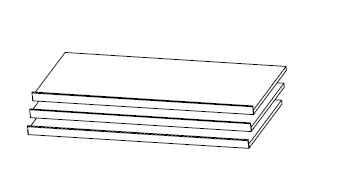 Rauch Packs Schlafzimmer Zubehör PC für Schwebetürschränke Tiefe 60-62cm 3 Schuhablageböden