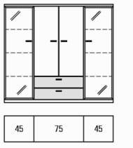 Rietberger Möbelwerke Wohnmöbel Manhattan Highboards