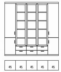 Rietberger Möbelwerke Wohnmöbel Malta Vitrine