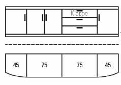 Rietberger Möbelwerke Wohnmöbel Malta Highboard