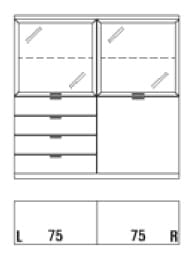 Rietberger Möbelwerke Wohnmöbel Siena Highboards