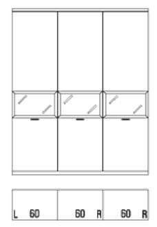 Rietberger Möbelwerke Wohnmöbel Siena Vitrinen