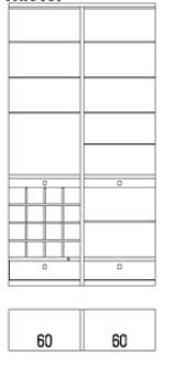 Rietberger Möbelwerke Wohnmöbel Siena Funktionszwischenbauelemente