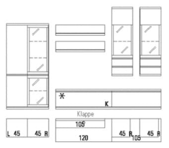 Rietberger Möbelwerke Wohnmöbel Enjoy Vorschlagskombinationen