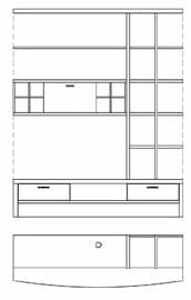 Rietberger Möbelwerke Wohnmöbel Malta Zwischenbauelemente