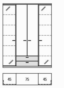 Rietberger Möbelwerke Wohnmöbel Manhattan Vitrinen