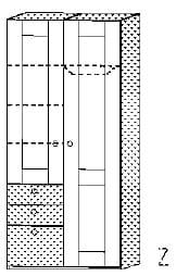 Röhr Jugendzimmer cottage Kleiderschränke