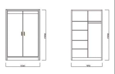 Schösswender Massivline and More - Schlafzimmer Kössen Kleiderschrank