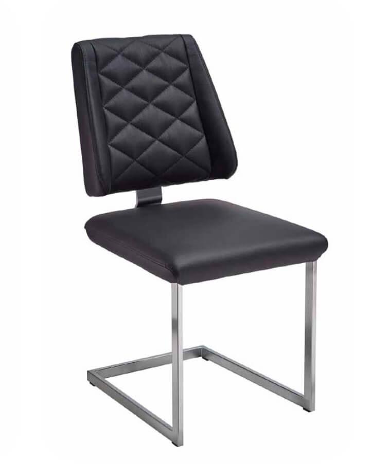 Silaxx Stühle 6253 Freischwinger AC - mit Rautensteppung im Rücken