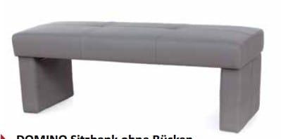 Standard-Furniture Bänke Domino Sitzbank ohne Rücken
