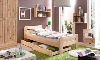 Ticaa Einzel- und Doppelbett Bert Einzelbett
