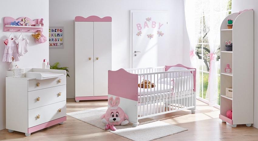 Ticaa Babyzimmer Prinzessin 3er-Set